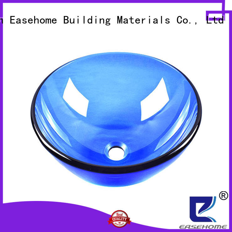Easehome lotus shaped glass lavabo bronze color washroom