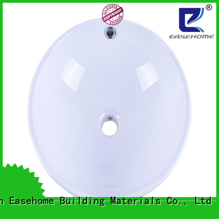 Easehome modern white porcelain kitchen sink wholesale hotel