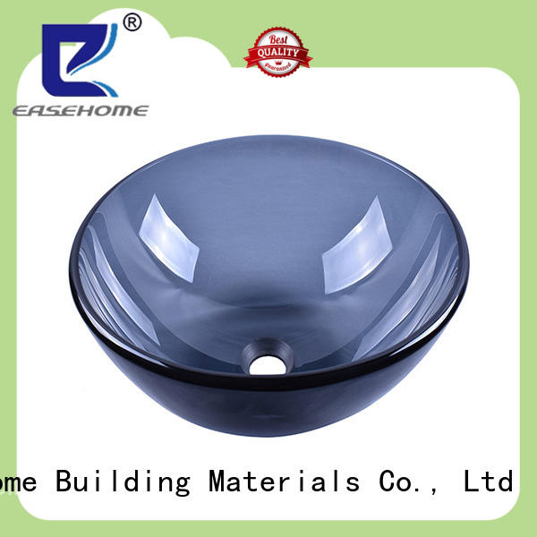 colorful glass basin square shape customization washroom