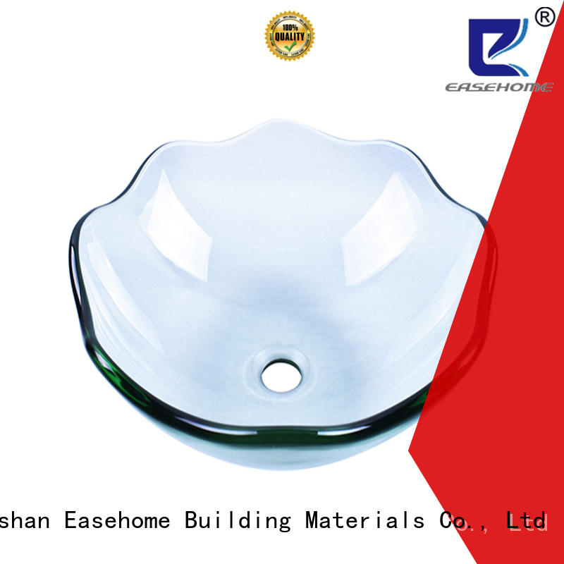 Easehome colorful glass bowl basin trendy design washroom