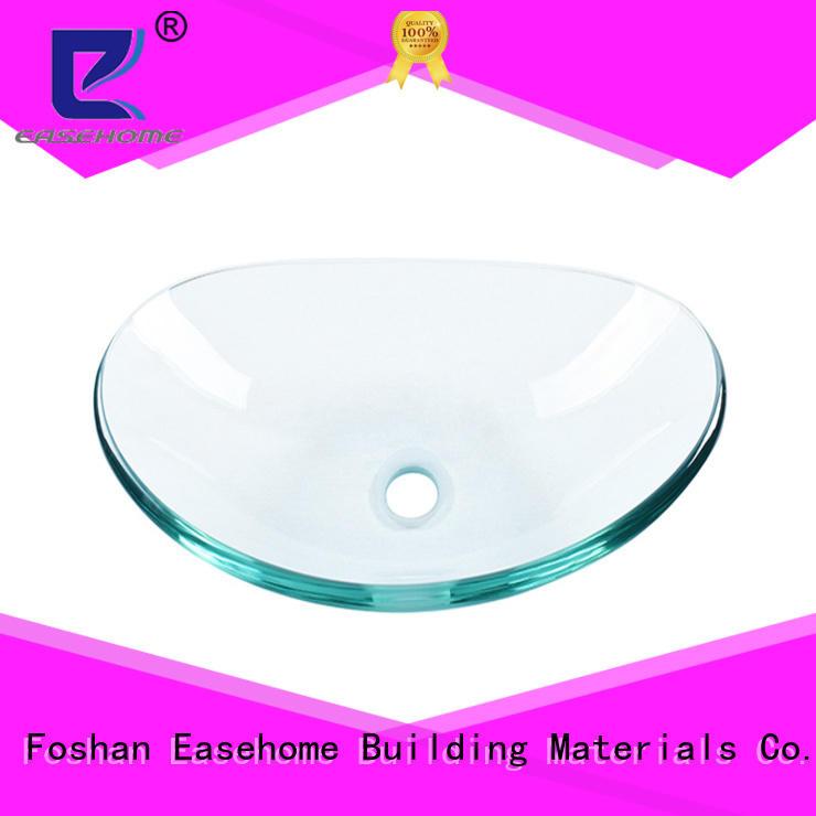 Easehome crystal red glass vessel sink trendy design bathroom
