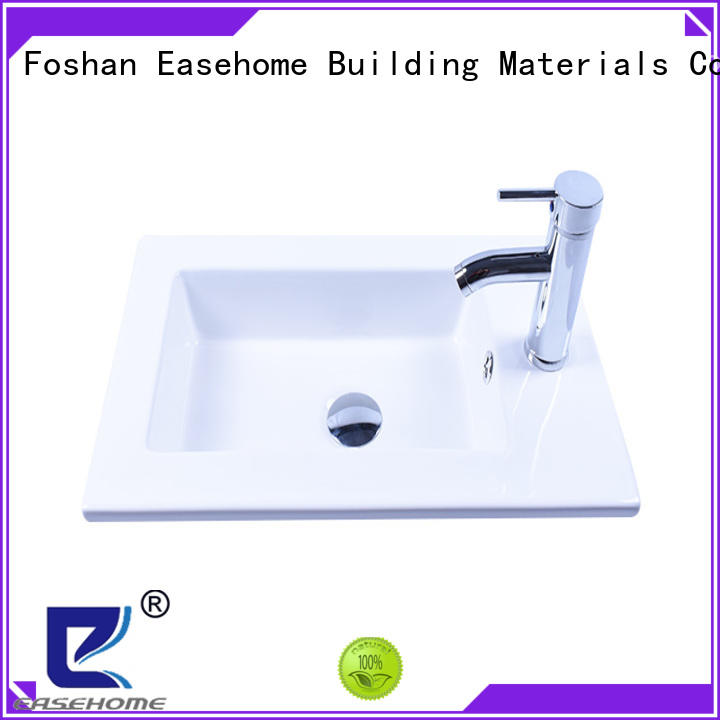 Easehome double bowl porcelain undermount bathroom sink good price home-use