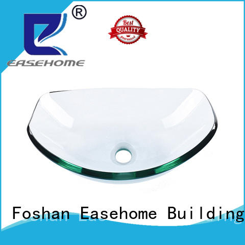 Easehome crystal glass wash basin best price bathroom