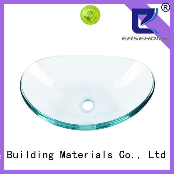 Easehome bowl round glass bathroom basins trendy design bathroom