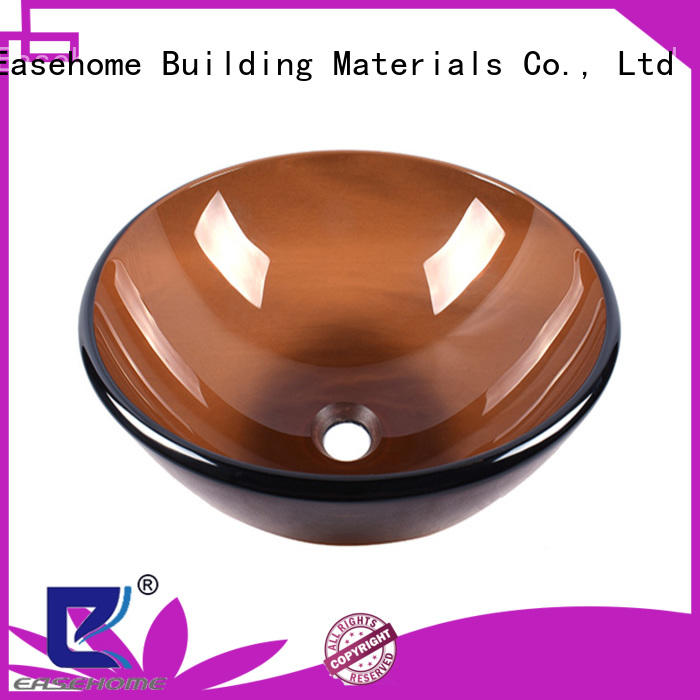 Easehome transparent brown glass vessel sink best price apartments