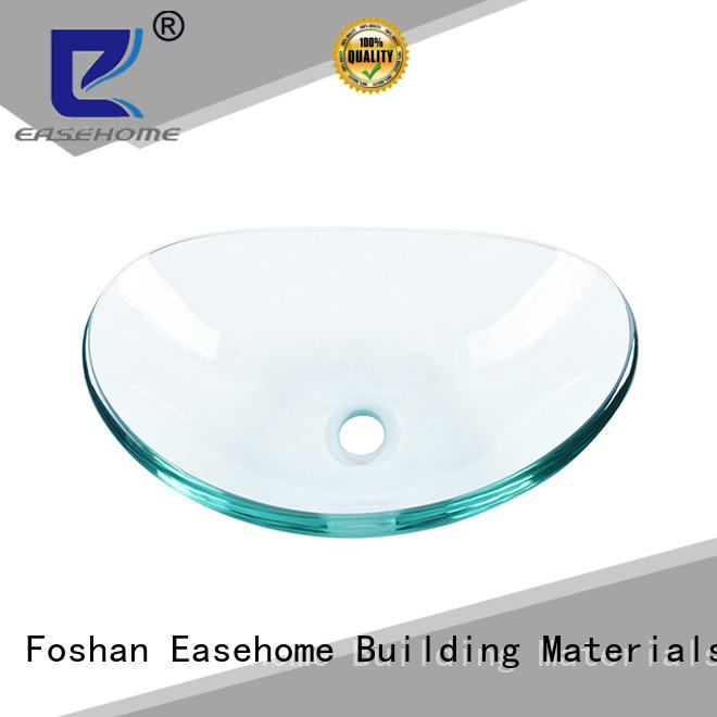 Easehome colorful glass vessel sinks customization apartments