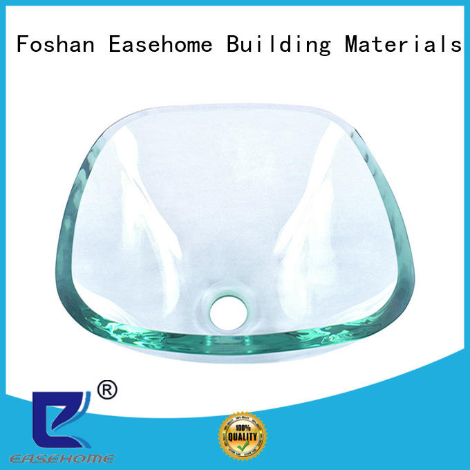 crystal glass bathroom basins oval shaped customization washroom