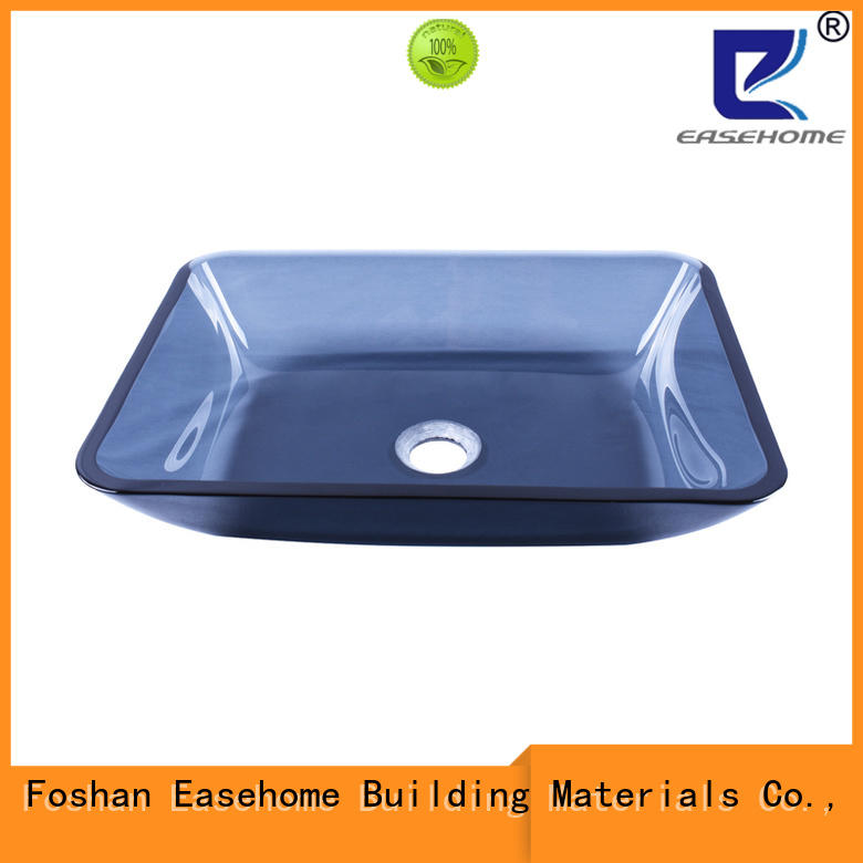 Easehome brown glass sink trendy design washroom