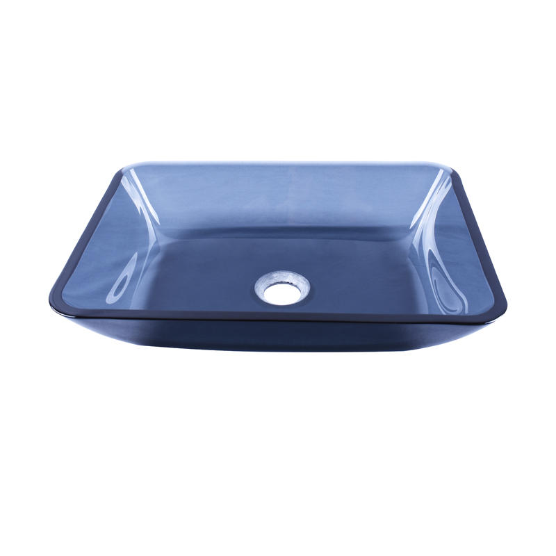 colorful glass vessel bowl square shape trendy design washroom