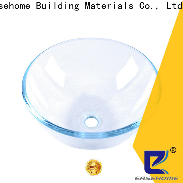 Easehome bronze color double layer glass vessel sink best price washroom