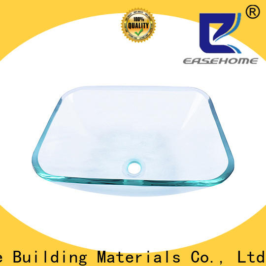 Easehome crystal glass wash basin best price washroom