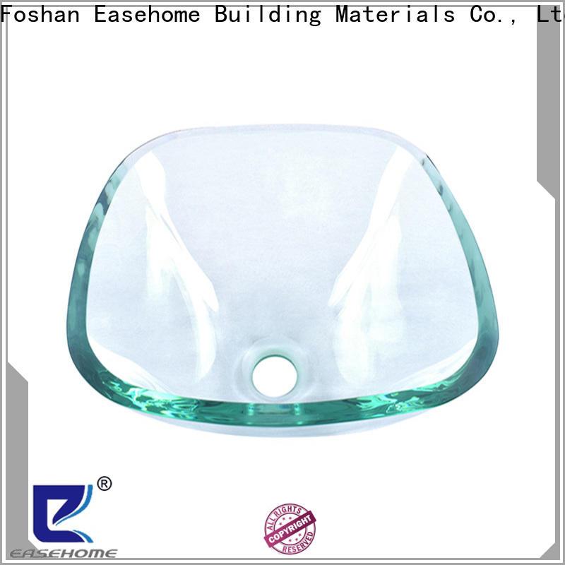 Easehome oval shaped glass wash basin trendy design washroom