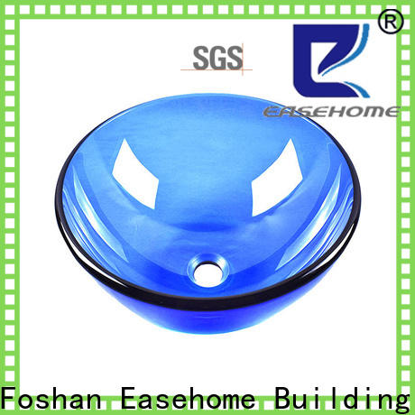 Easehome lotus shaped glass bathroom sink bowls customization bathroom