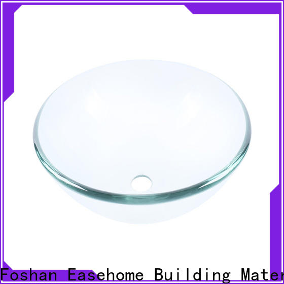 Easehome lotus shaped glass bathroom sink bowls customization bathroom