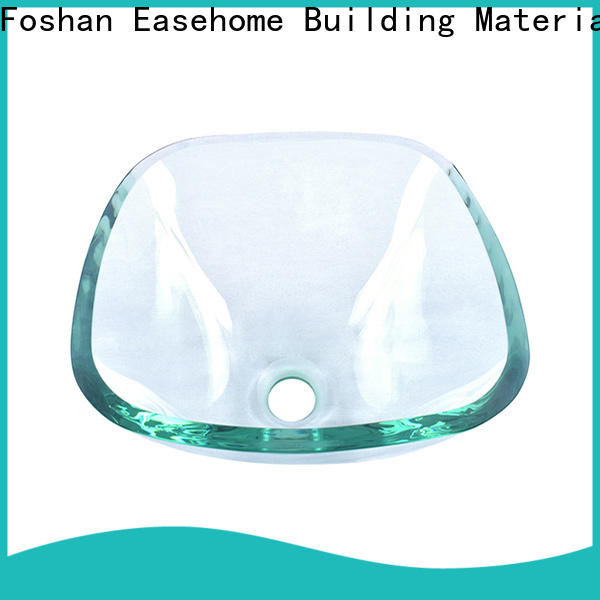Easehome chromed glass bathroom sink customization washroom