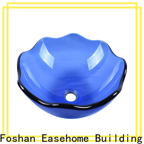 Easehome transparent glass bathroom basins customization washroom