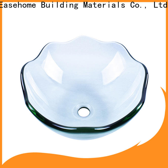 Easehome crystal wall mount glass sink best price washroom