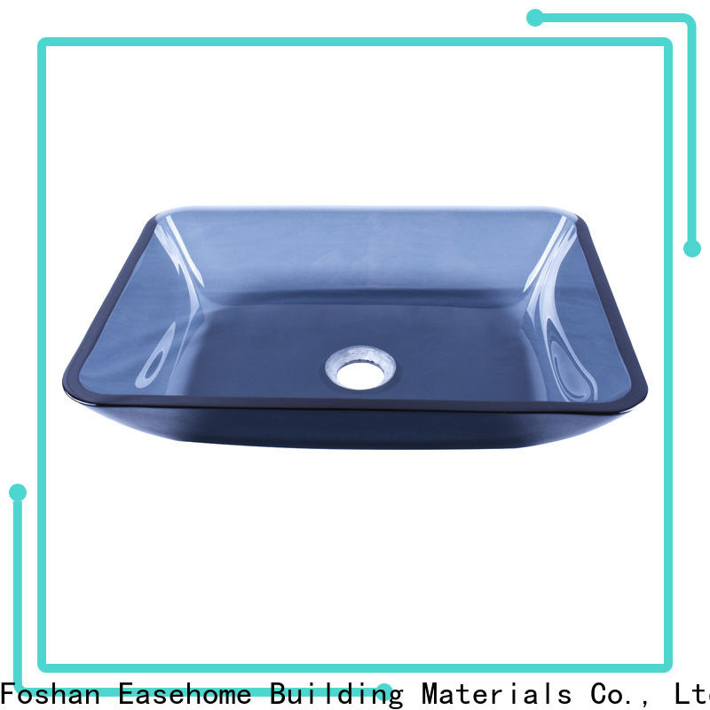 crystal brown glass vessel sink chromed customization bathroom