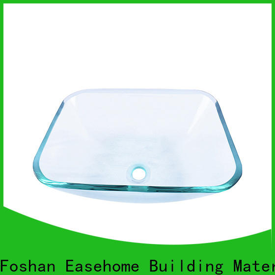 Easehome brown glass wash basin trendy design washroom