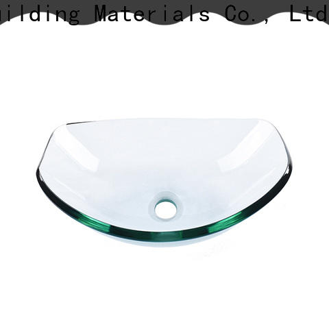 Easehome chromed glass bathroom sink trendy design washroom