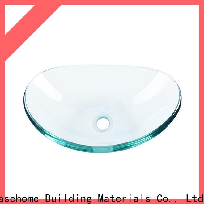 Easehome transparent glass bathroom sink trendy design apartments