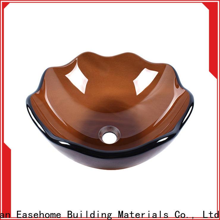 lotus shaped glass vessel bathroom sinks bronze color customization bathroom
