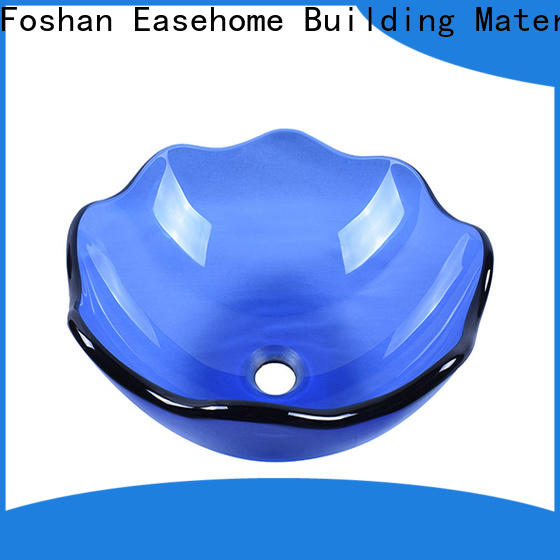 Easehome square shape glass bathroom basins best price washroom
