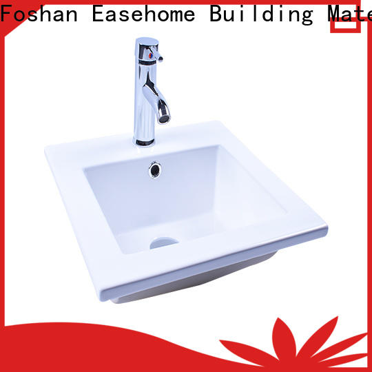 Easehome double bowl ceramic wash basin wholesale home-use