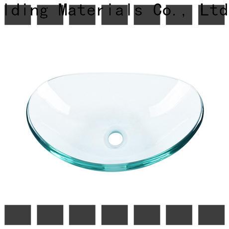 Easehome crystal glass vessel bathroom sinks trendy design washroom