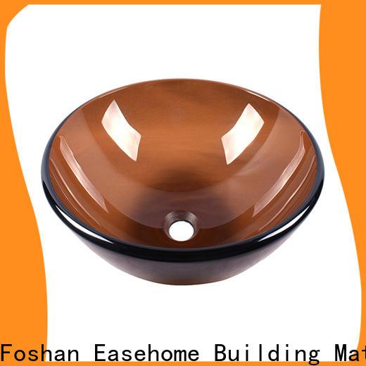 lotus shaped glass wash basin bowl round customization washroom