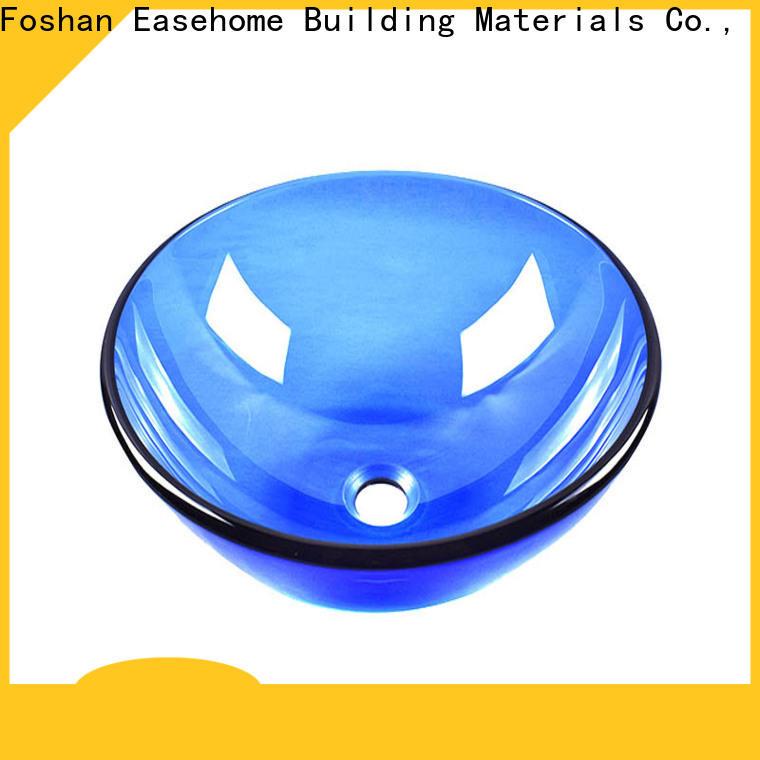 Easehome brown brown glass vessel sink customization washroom
