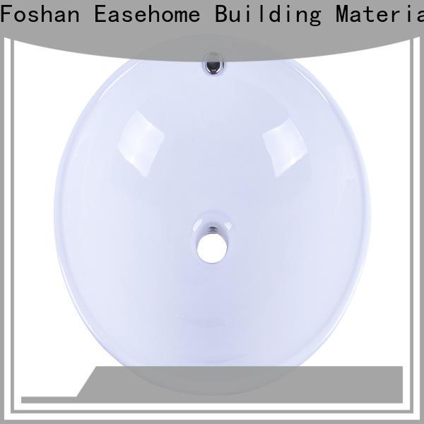 Easehome pure white oval porcelain sink awarded supplier restaurant