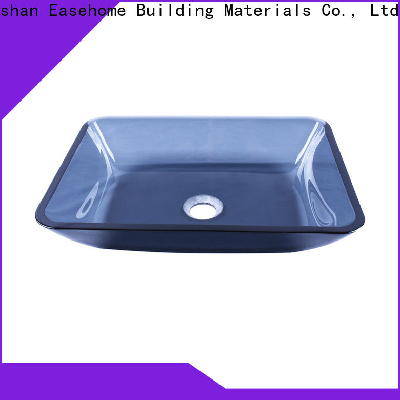 Easehome colorful tempered glass vessel sink customization washroom