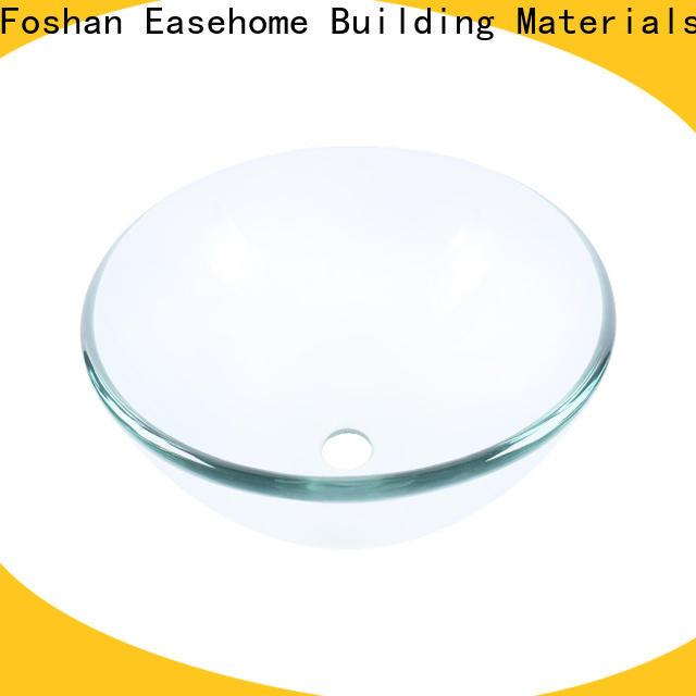 Easehome transparent glass wash basin trendy design bathroom