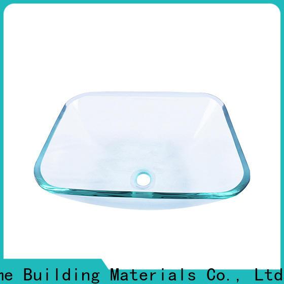 Easehome lotus shaped glass vessel sinks best price washroom