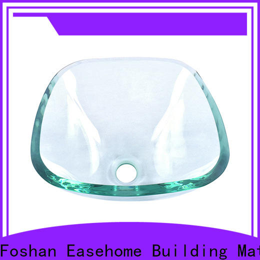 Easehome colorful glass bathroom basins customization apartments