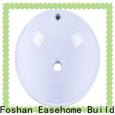 Easehome double bowl porcelain basin bulk purchase hotel