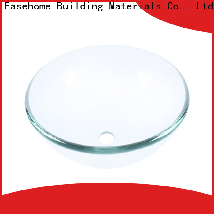 Easehome transparent glass vessel bathroom sinks customization washroom