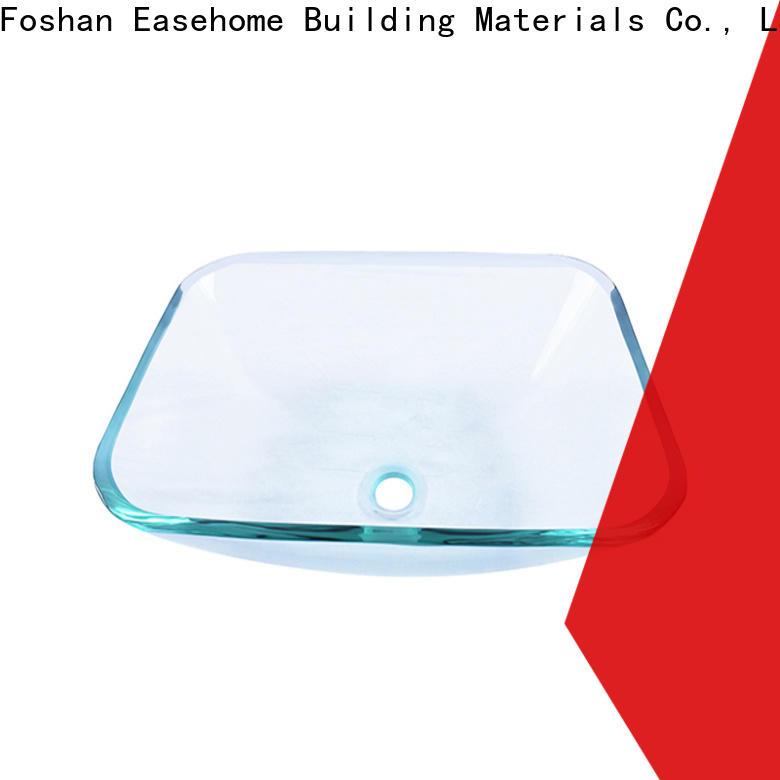 crystal glass bowl sink super white trendy design washroom