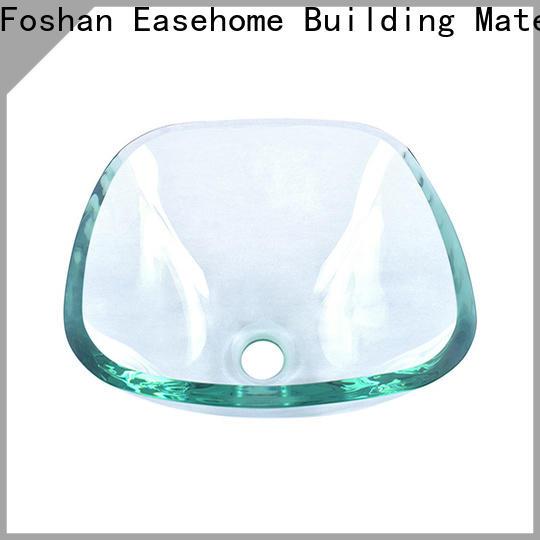 crystal black glass sink oval shaped best price washroom