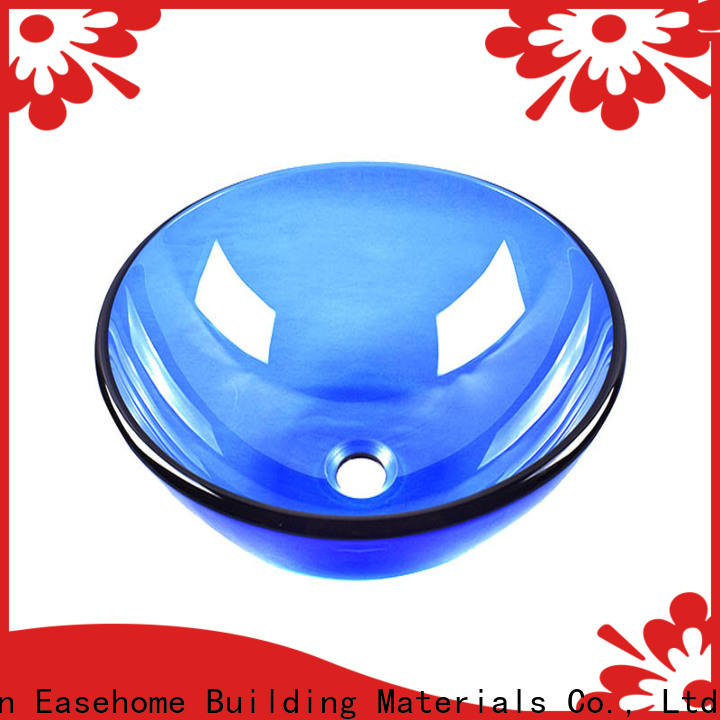 Easehome colorful glass bathroom basins customization washroom