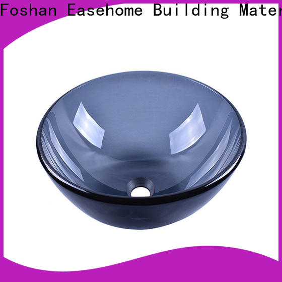 crystal glass bowl basin chromed best price washroom