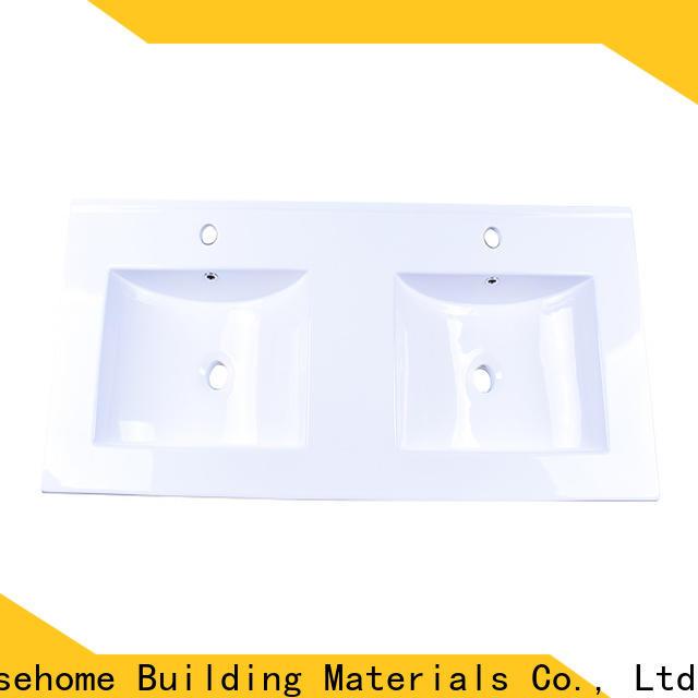 Easehome double bowl ceramic washbasin wholesale home-use