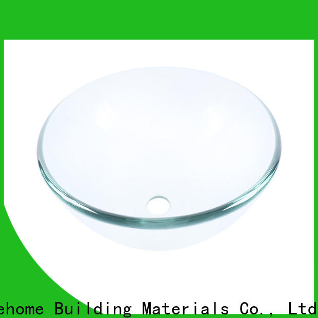 Easehome rectangular glass bowl sink customization bathroom