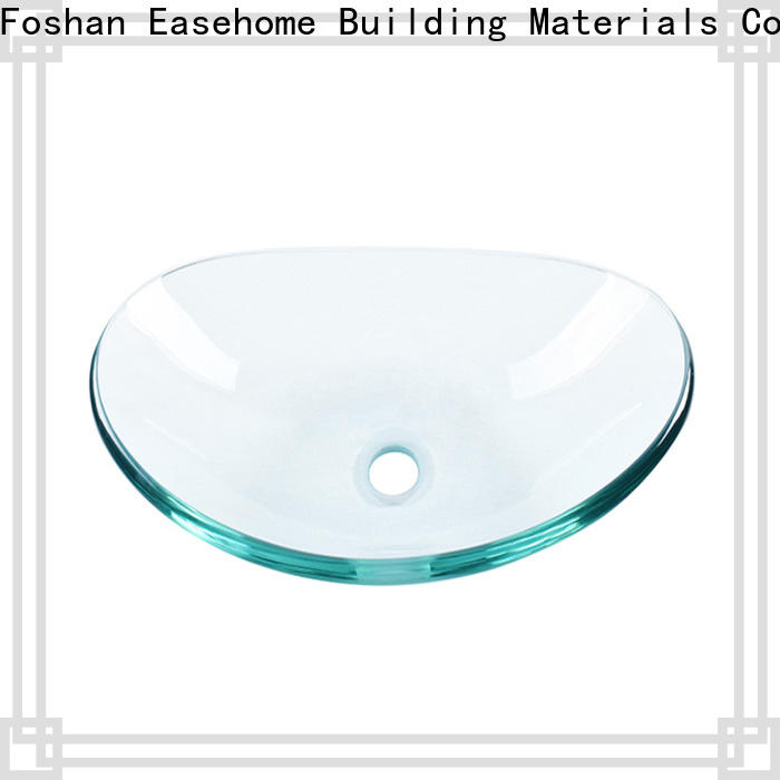 Easehome bowl round double layer glass vessel sink best price apartments