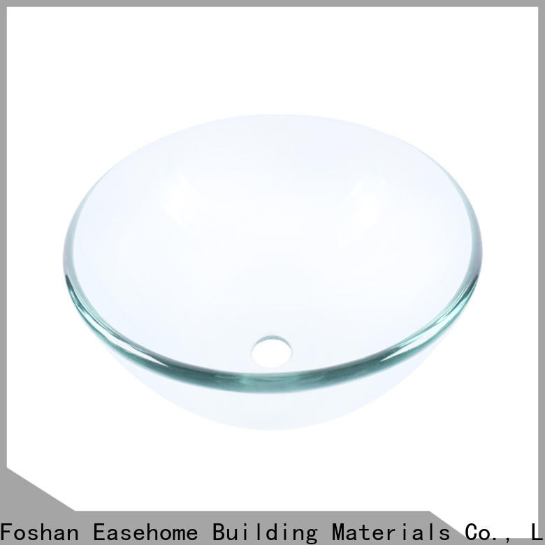 Easehome colorful glass vessel bathroom sinks trendy design washroom