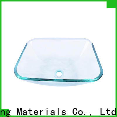 Easehome transparent glass vessel bathroom sinks trendy design apartments
