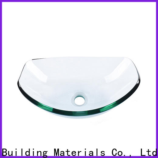 lotus shaped glass bowl basin semitransparent customization bathroom