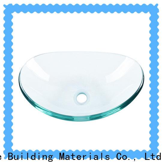 colorful glass basin bronze color trendy design apartments