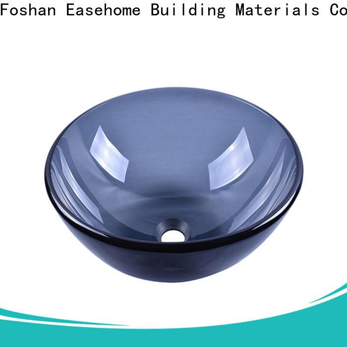 Easehome crystal brown glass vessel sink trendy design bathroom